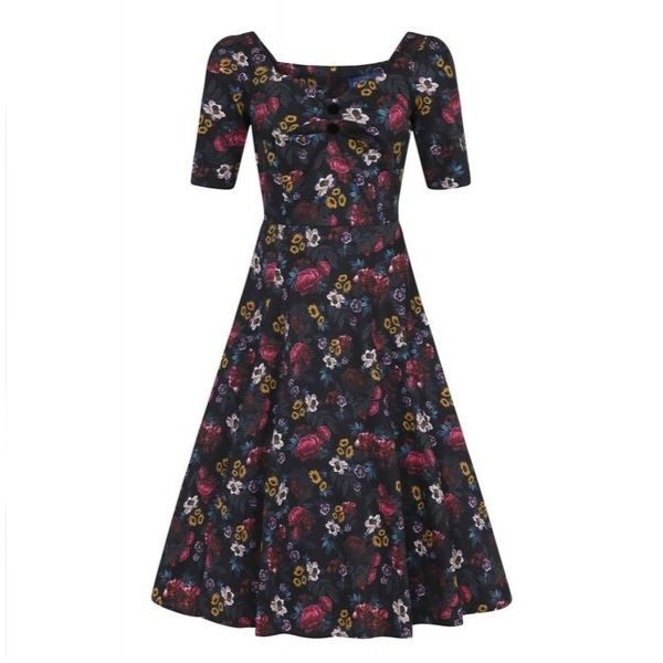 Floral sleeved dolores dress