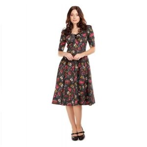 Autumn dolores sleeved swin gdress