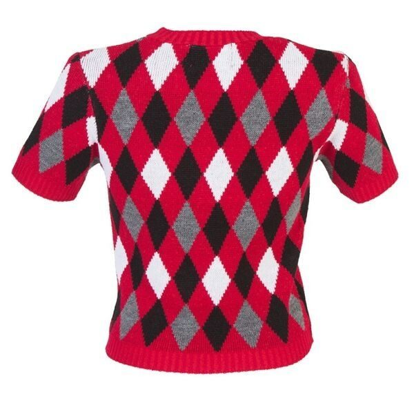 Diamond red and black bobby jumper